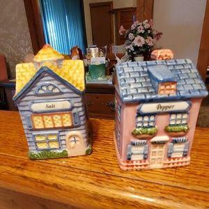 Avon House Salt &Pepper Shaker Set